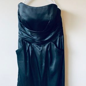 David's Bridal Black Cocktail Dress
